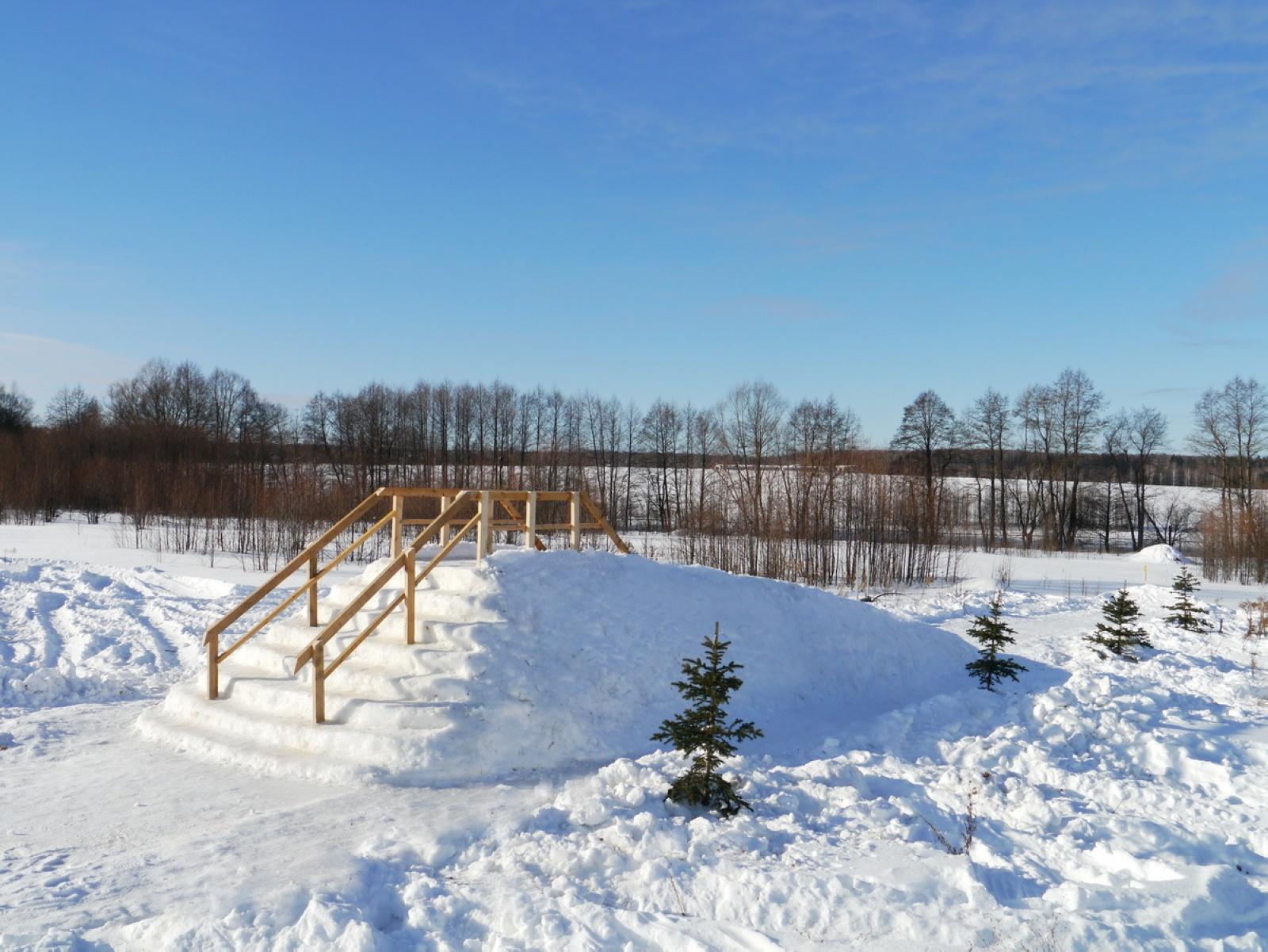 Снежная горка январь 2017