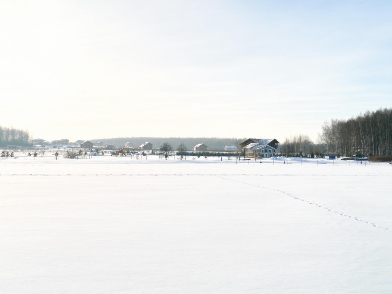 Вид на поселок с другого берега, январь 2017